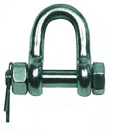 D SHACKLE WITH FASTENING BOLT, FORGED
