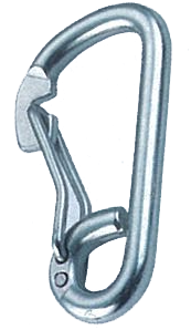 SPRING HOOK WITH CURVED GATE