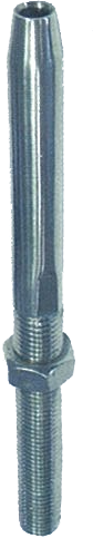 SWAGE STUD WITH NUT , LEFT THREAD