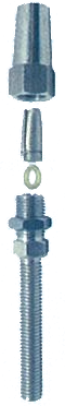 THREAD STUD SWAGELESS TERMINAL (METRIC) RIGHT