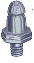 LIFT-THE-DOT SCREW STUD WITH THREAD SCREW BRASS NICKEL FINISH