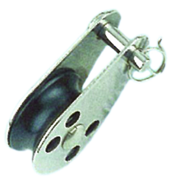 PULLEY BLOCK TYPE C (REMOVABLE PIN WITH RIVET) NYLON SHEAVE